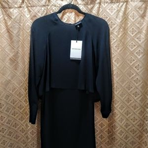 WhoWhatWear Breezy Black Dress